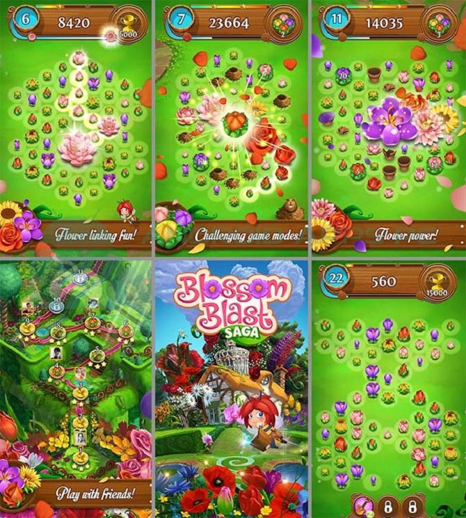 blossom blast saga gameplay