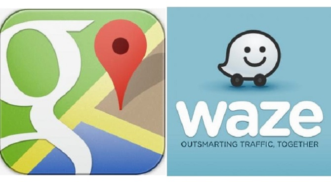 google maps and waze