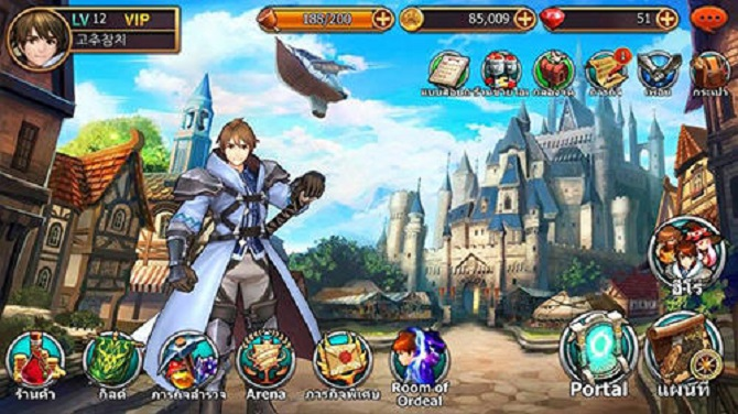 king's raid home menu