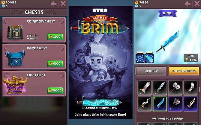 blades of brim interface