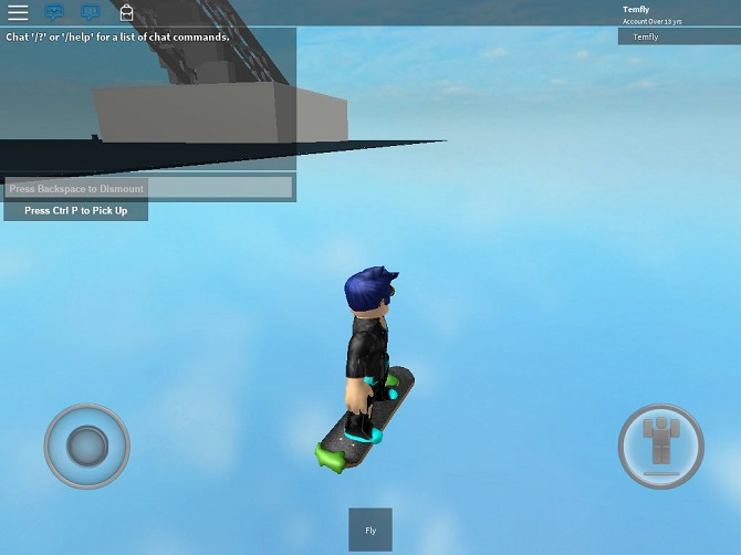 roblox flying skateboard