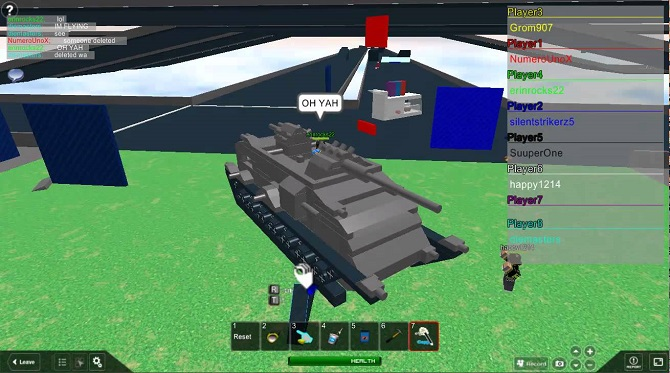 roblox flying tank