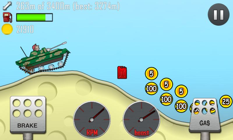 hill climb racing desert area
