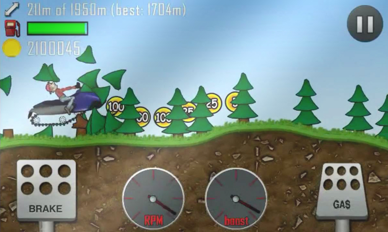 hill climb racing forest